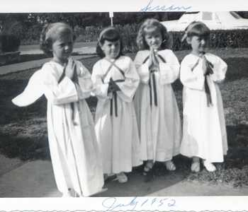 Description: Description: Description: Description: Description: Susan is the 3rd angel from left; July 1952