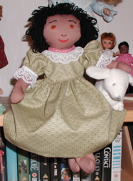 18 inch (45cm) Amanda Cloth Doll Dress and Floppy