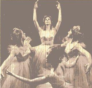 Description: Description: Description: Description: Description: Annapolis Civic Ballet production of Pas de Quartre. Susan Kramer in foreground. photo credit: Annapolis Capitol Newspaper. 1971.
