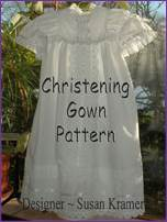 E-pattern of Christening Gown