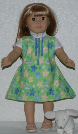 image relating to Free Printable 18 Inch Doll Clothes Patterns identified as Sleeveless Jumper Routine for American Woman Model 18 Inch Dolls