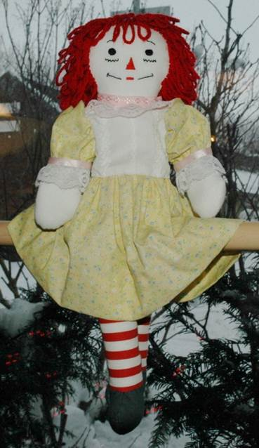 Dress Pattern for 15 to 18 Inch Raggedy Ann Dolls