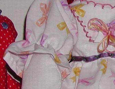 Doll dress designed by Susan Kramer