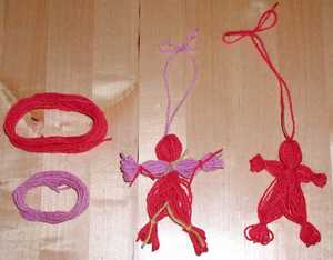 Description: Yarn Dolls by Susan Kramer