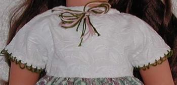 detail of cap sleeve dress