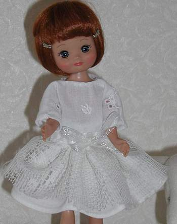 dress detail for 8 inch doll; photo credit Susan Kramer