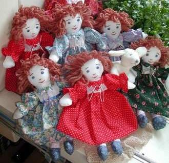 Dolls designed and made by Susan Kramer