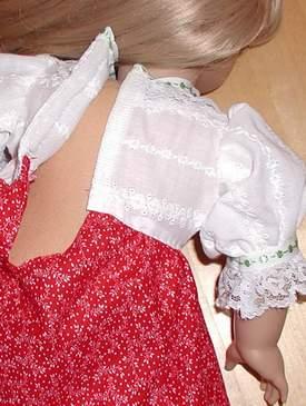 Doll dress designed and made by Susan Kramer
