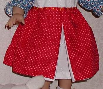 18-inch doll dress skirt; photo credit Susan Kramer