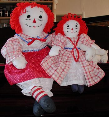 Description: Description: Description: Description: Description: Description: Description: Description: 20 and 16 inch Raggedy Ann dolls