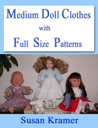 Description: Description: Description: Description: Medium Doll Clothes with Full Size Patterns by Susan Kramer