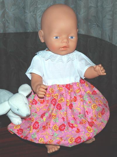 Zapf New Born Baby in Cap Sleeve Dress