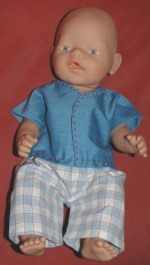 Zapf New Born Baby in boy shirt and pants
