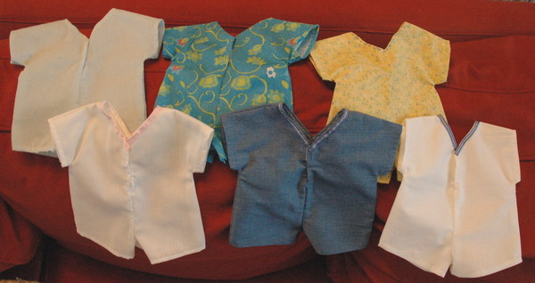 6 versions for boys or girls, bodysuits or playsuits