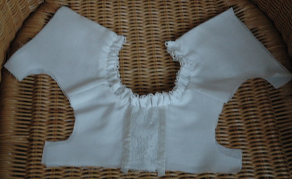 open view of bodice