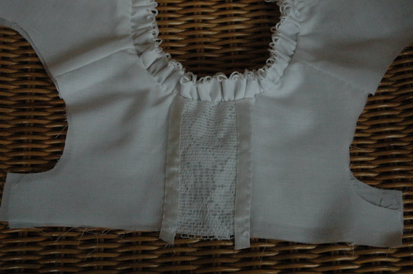 close up of bodice
