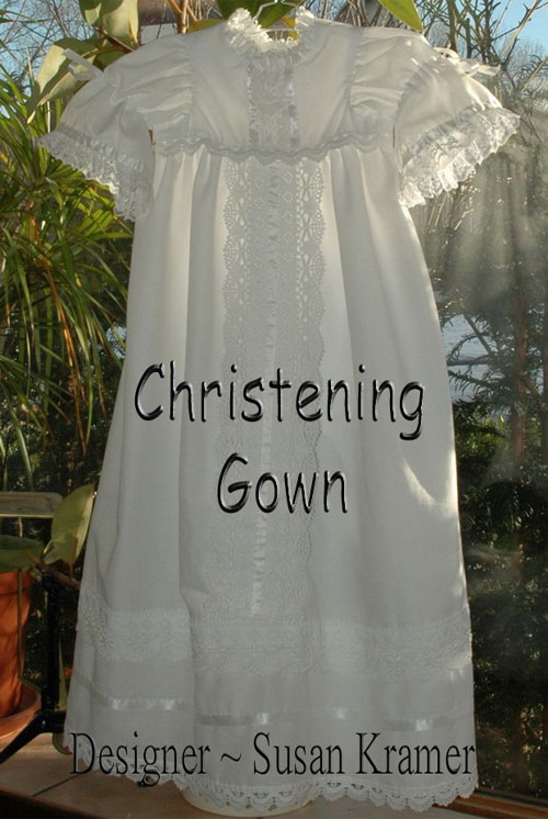 Christening gown bodice and sleeves