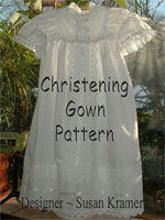Description: E-pattern of Christening Gown
