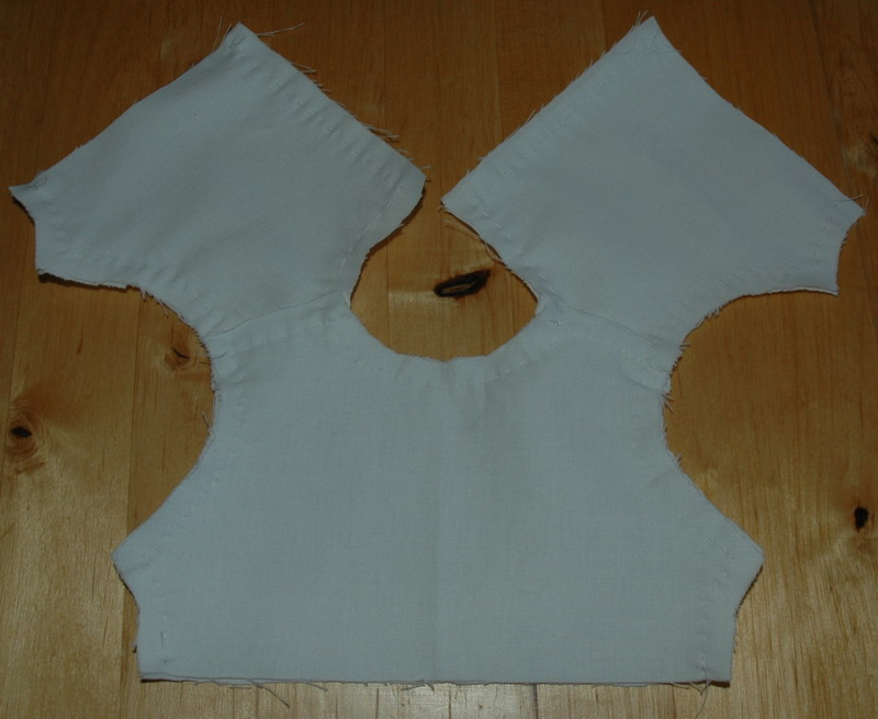 lined bodice detail
