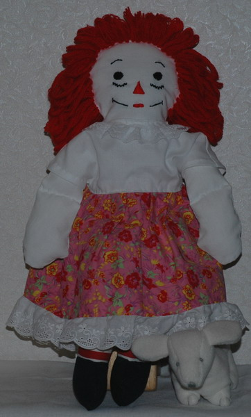 Description: Description: Description: Description: Description: Description: Description: Description: Description: 20 inch Raggedy Ann in cap sleeve dress