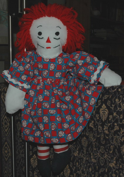 Description: Description: Description: Description: Description: Description: Description: Description: Description: Description: 20 inch Raggedy Ann in short sleeve dress