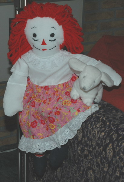 Description: Description: Description: Description: Description: Description: Description: Description: Description: Raggedy Ann in cap sleeve dress