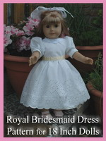 Description: Royal Bridesmaid 18 Inch Doll Dress Pattern - ebook by Susan Kramer
