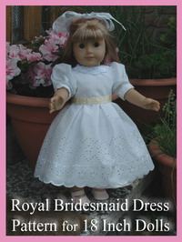 Description: Description: Description: Description: Royal Bridesmaid 18 Inch Doll Dress Pattern  by Susan Kramer