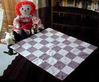 doll blanket with 24 Raggedy Ann doll