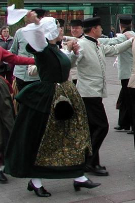 Folk dancers from the Island of Ameland, on the north coast of The Netherlands