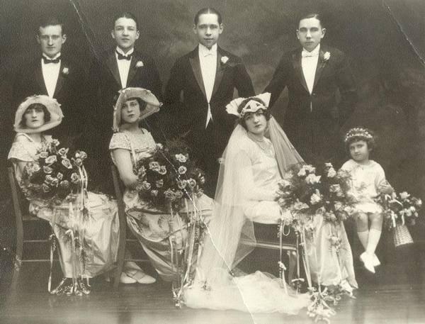 Description: Description: Description: Description: Marriage of Helene Melocik and Francis (Frank Kaspar); circa 1921-23.