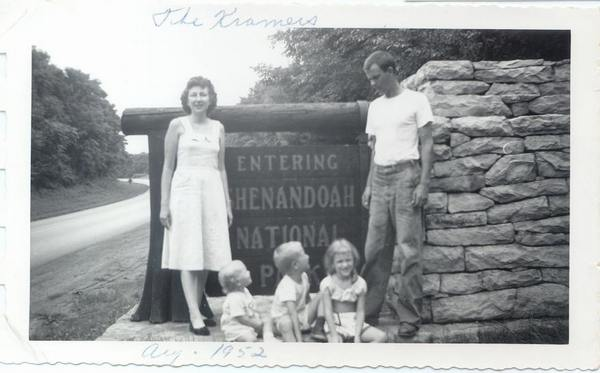 Description: Description: Description: Description: Description: The Kramer family; mother, father, sister, brother and Susan; 1952