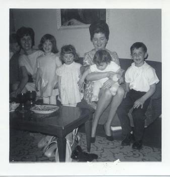 Description: Description: Description: Description: Brian, Pat, Mary Kate, Beth Kaspar, Fitz. Merrie Ellen and Charlie James, 1964.