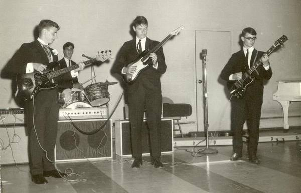 Description: Description: Description: Description: David Kramer's band: L.to R. David, Steven Kurrle, Bob Larche, Bob Jones, 9/4/64.