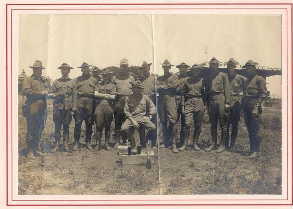 Description: Description: Description: Description: Major David Henry Jenkins at far left. Frederick, MD, 1911.