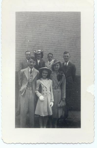 Description: Description: Description: Description: Pribyl family. L.to R. back: Bill, Mary, Edward, Mr. Pribyl; front: Lewis, Theresa, Mrs. Pribyl.