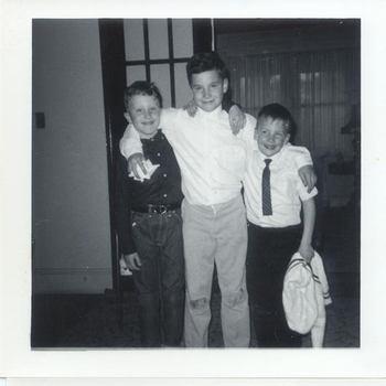 Description: Description: Description: Description: Paul Kaspar, Jr., Steven and Chris James - Murnie's 2 oldes sons. 1964.