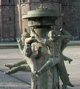 Description: Description: Sculpture of dancers on central mall in Maastricht, The Netherlands. Photo credit Susan Kramer