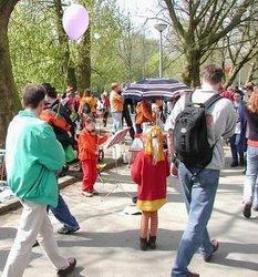 Description: photo credit Susan Kramer; May Day celebration