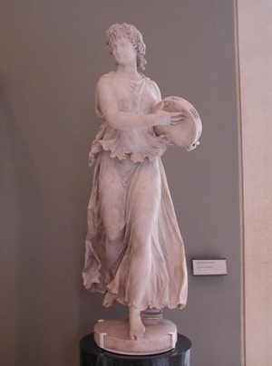 Le Louvre Museum, Paris France; Jean Fran�ois Lorta - 1752-1837 <BR> Danseuse au tambourin; photo by Susan Kramer