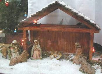 Manger scene. Photo credit Susan Kramer