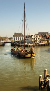 Description: harbor at Harlingen, The Netherlands by Susan Kramer