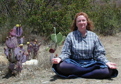 photo credit Stan Schaap; author sitting in meditation