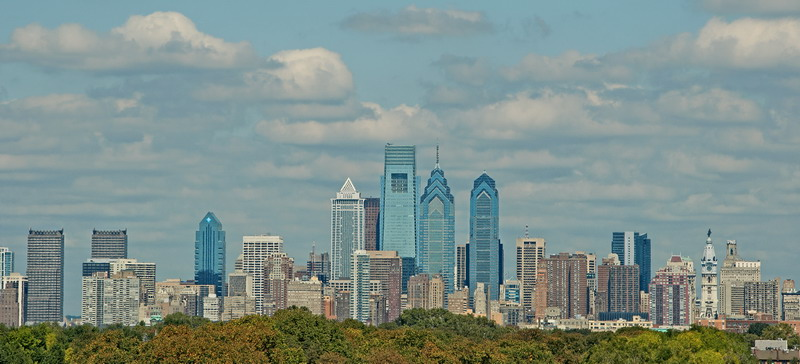 Description: Description: skyline of Philadelphia, Pennsylvania; photo copyright Stan Schaap; may not be copied without permission