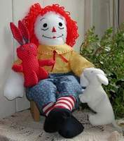 Raggedy Andy and friends; photo credit Susan Kramer