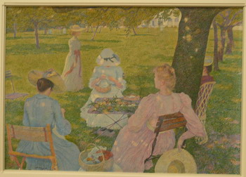 photo credit Susan Kramer, Theo van Rijsselberghe - Family gathering in an orchard, 1890