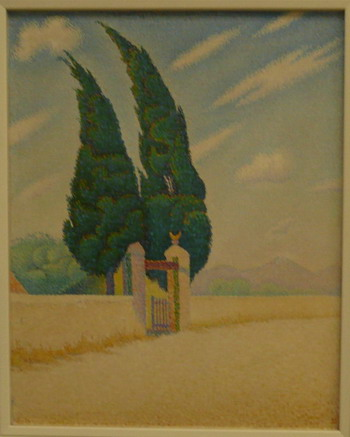Description: Paul Signac, Cypress, 1893, photo credit Susan Helene Kramer