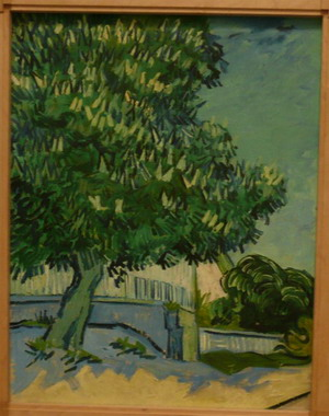 Vincent van Gogh, Blossoming Chestnut Trees, 22-23 May, 1890; photo credit Susan Helene Kramer