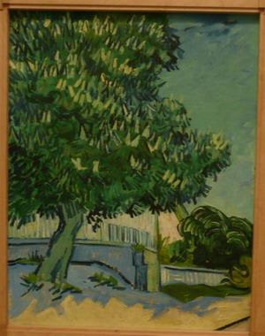 Description: Vincent van Gogh, Blossoming Chestnut Trees, 22-23 May, 1890; photo credit Susan Helene Kramer