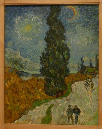 Vincent van Gogh, Country road in Provence by night, 12-15 May, 1890; photo credit Susan Helene Kramer